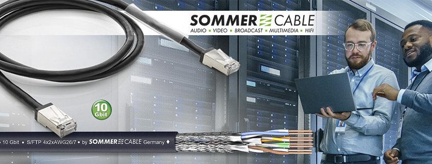 Hochflexibles CAT.6a-Patchkabel 10 Gbit als Meterware (Art. 580-0401) und fertiges Anschlusskabel (C6AFU-…)